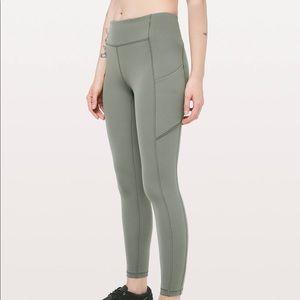 Green lululemon leggings size 2